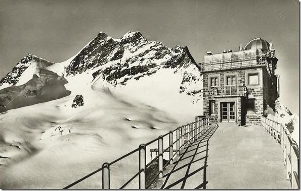 Ansichtskarte 1953 aus Sammlung Meteorologische Station Jungfra