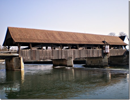 Alte Holzbrücke Reuss aufwärts 13.3.15 Bremgarten 031