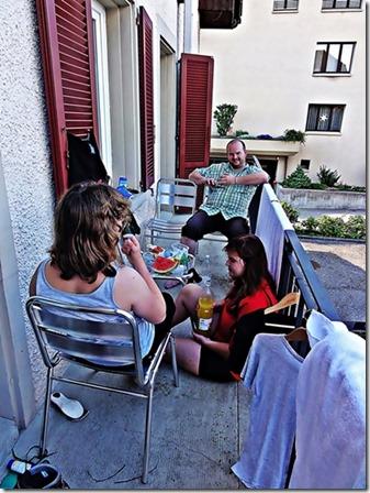 Nachtessen auf dem Balkon in unserem Hotel