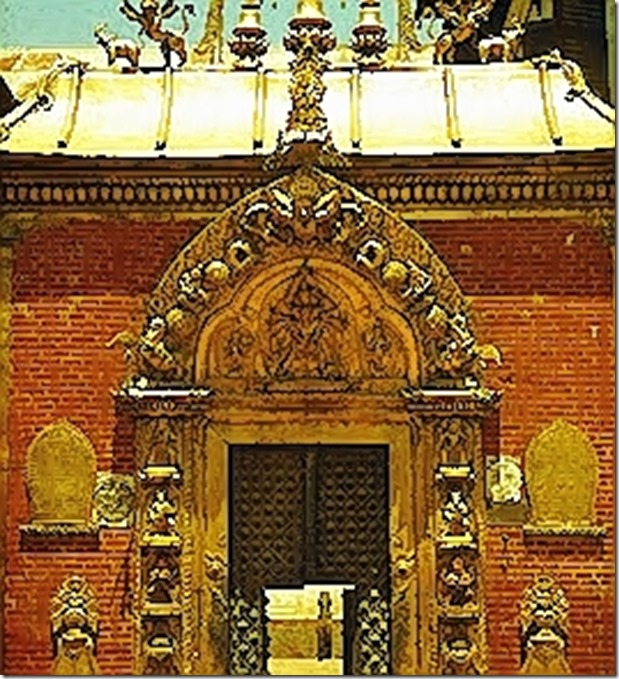Das Goldene Tor beim Königspalast.......Durbar Square in Bhaktapur